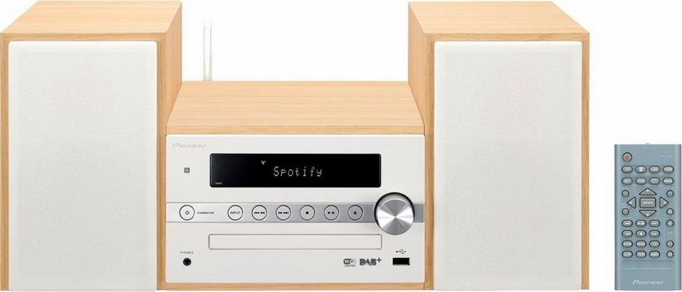 Pioneer X-CM66D Microanlage, Spotify, Bluetooth, NFC, WLAN, Digitalradio (DAB+), RDS, 1x USB in weiß