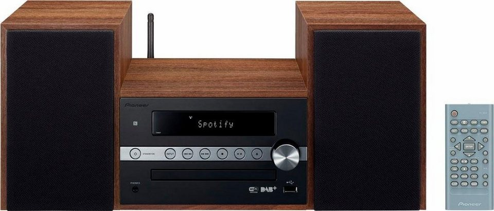 Pioneer X-CM66D Microanlage, Spotify, Bluetooth, NFC, WLAN, Digitalradio (DAB+), RDS, 1x USB in schwarz