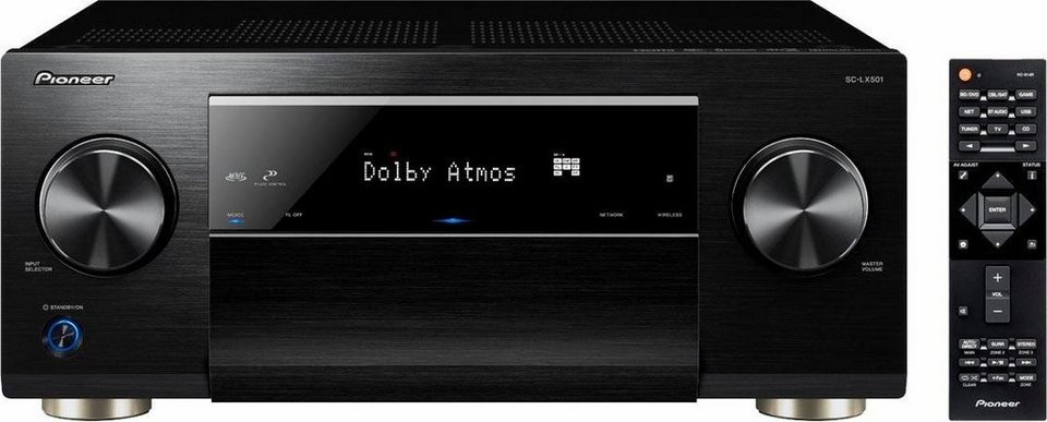 Pioneer SC-LX501 7 AV-Receiver (Hi-Res, 3D, Spotify Connect, Deezer, Airplay, WLAN, Bluetooth) in schwarz