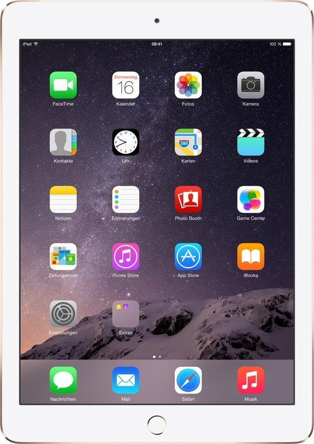 "Apple iPad Air 2 Cellular 9,7"" 128 GB in gold"