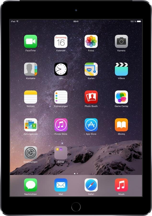 "Apple iPad Air 2 Cellular 9,7"" 128 GB in spacegrau"