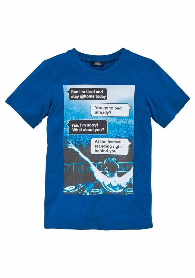 Buffalo T-Shirt Mit Fotodruck vorn in royalblau