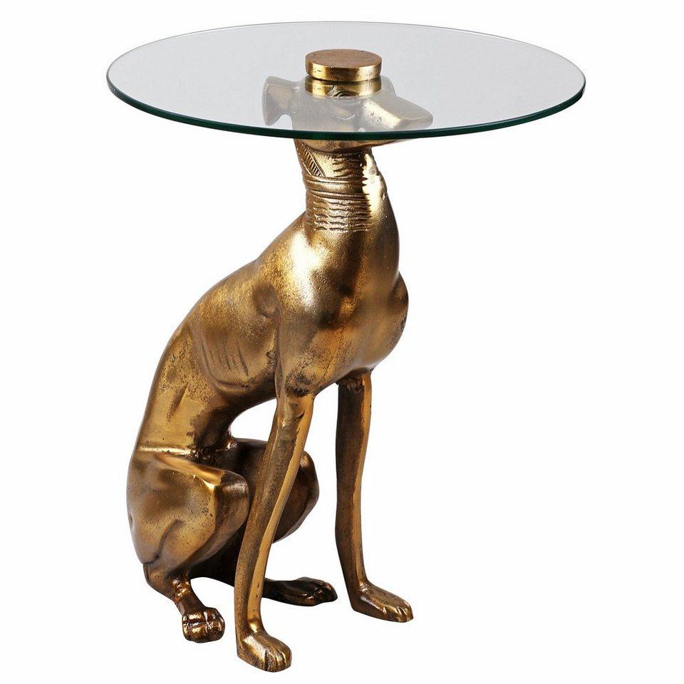 Home affaire Beistelltisch »Butler-Dog« in goldfb.