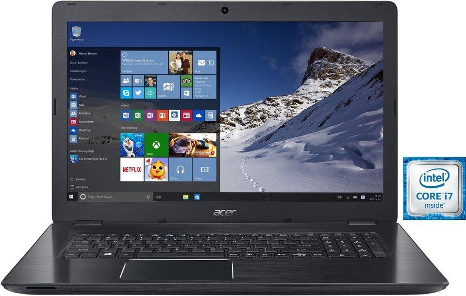 Acer Aspire F17 (F5-771G-70E6) Notebook, Intel® Core™ i7, 43,9 cm (17,3 Zoll), 1256 GB Speicher in schwarz
