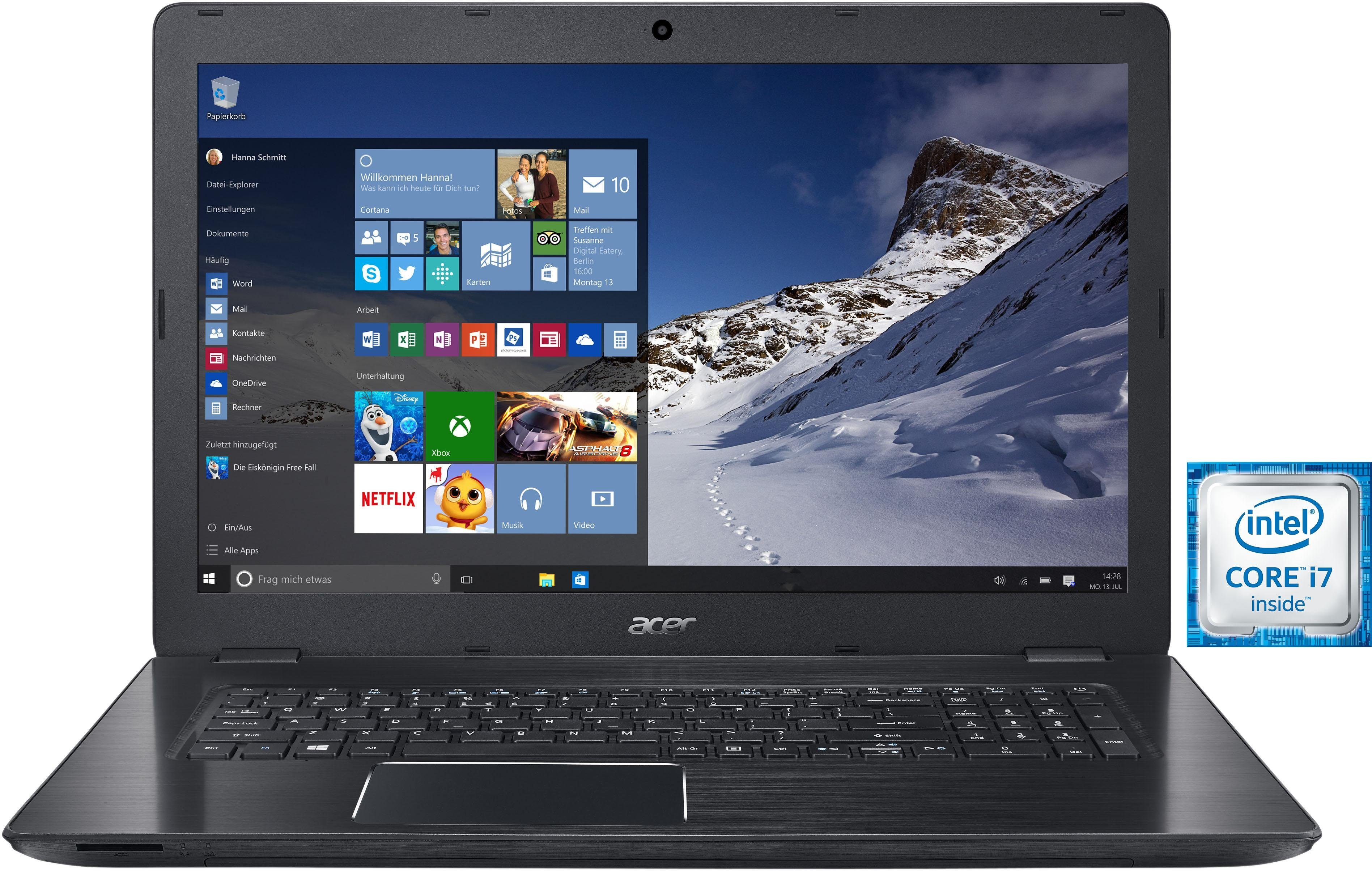 Acer Aspire F17 (F5-771G-70E6) Notebook, Intel® Core™ i7, 43,9 cm (17,3 Zoll), 1256 GB Speicher