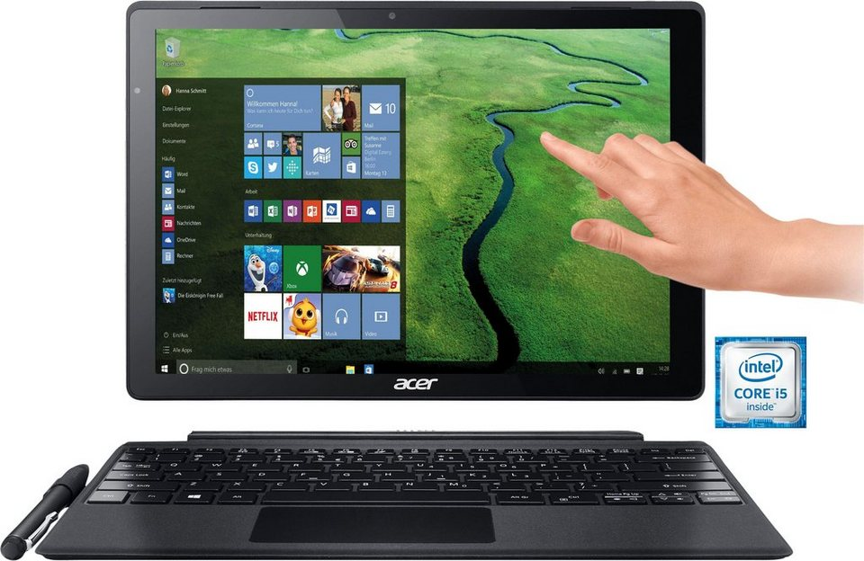 Acer 4Q Switch Alpha 12 Notebook, Intel® Core™ i5, 30,5 cm (12 Zoll), 256 GB, 4096 MB LP DDR3 in silberfarben