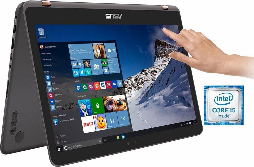 Asus ZenBook Flip UX360UA Convertible Notebook, Intel® Core™ i5, 33,7 cm (13,3 Zoll) in grau