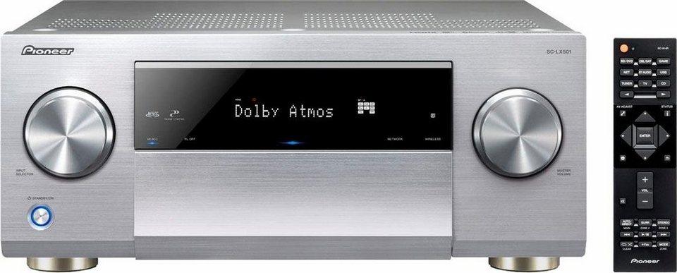 Pioneer SC-LX501 7 AV-Receiver (Hi-Res, 3D, Spotify Connect, Deezer, Airplay, WLAN, Bluetooth) in silberfarben
