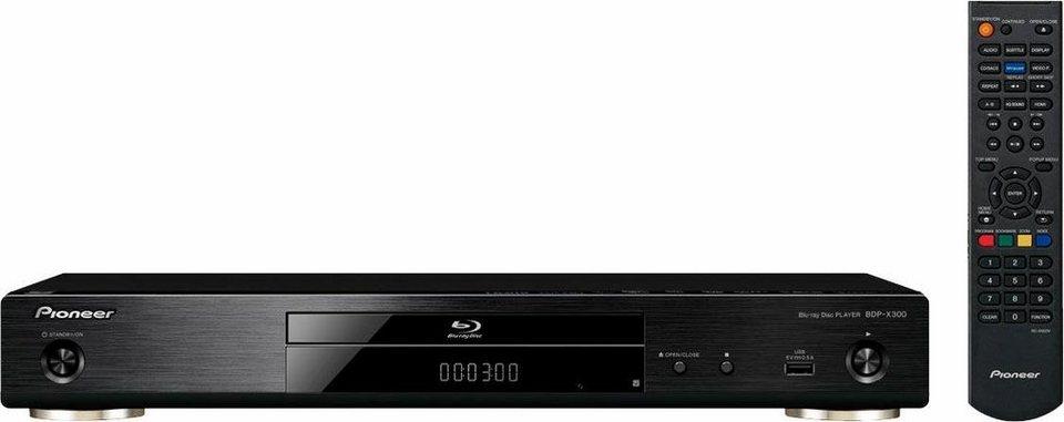 Pioneer BDP-X300 Blu-ray-Player, Hi-Res, 3D-fähig, 4K (Ultra-HD), WLAN in schwarz
