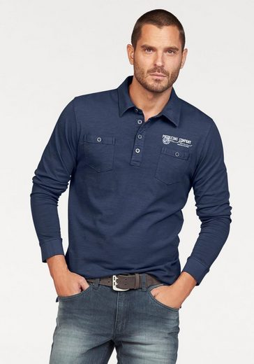 Arizona Langarm-Poloshirt