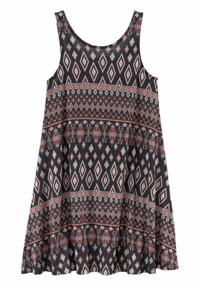 Buffalo Jerseykleid mit Alloverdruck in braun-bunt-bedruckt