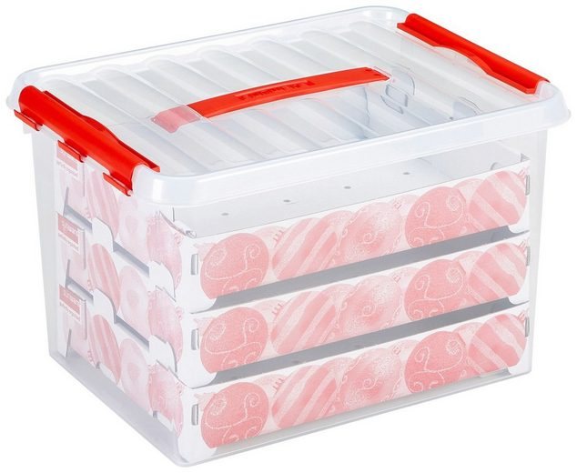 Sunware Weihnachtskugelbox für »Weihnachtskugeln / Christbaumkugeln« 22 Liter