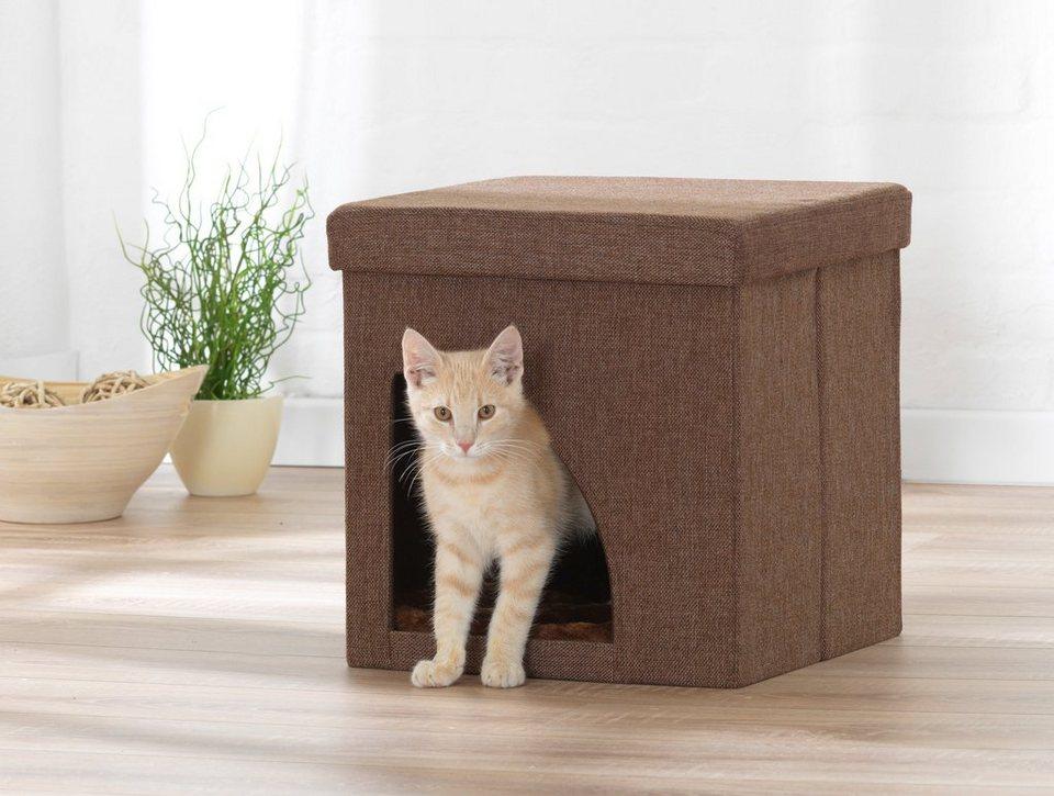 Hundehöhle und Katzenhöhle in braun