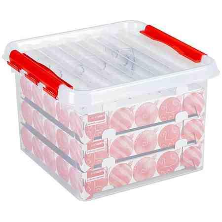 Weihnachtskugelbox für »Weihnachtskugeln / Christbaumkugeln« 26 Liter