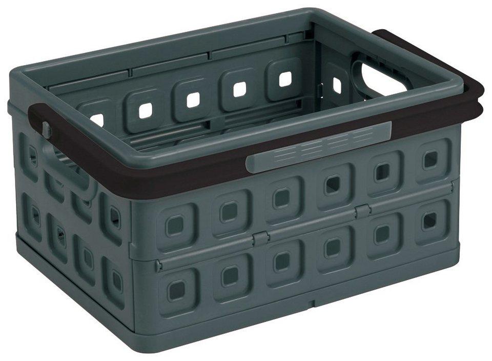 Einkaufskorb »Klappbox 24 Liter«, 2er-Set in anthrazit/schwarz