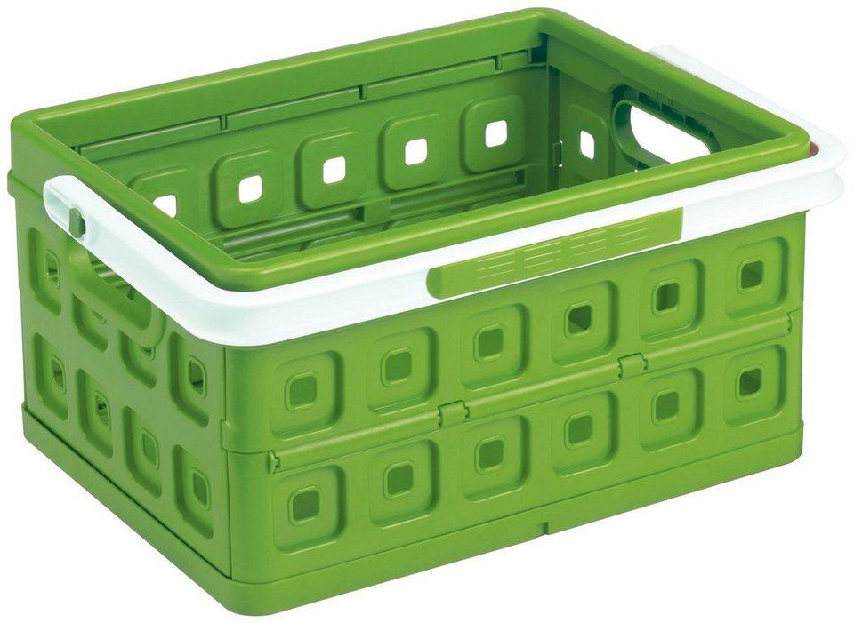 Einkaufskorb »Klappbox 24 Liter«, 2er-Set in grün/weiß