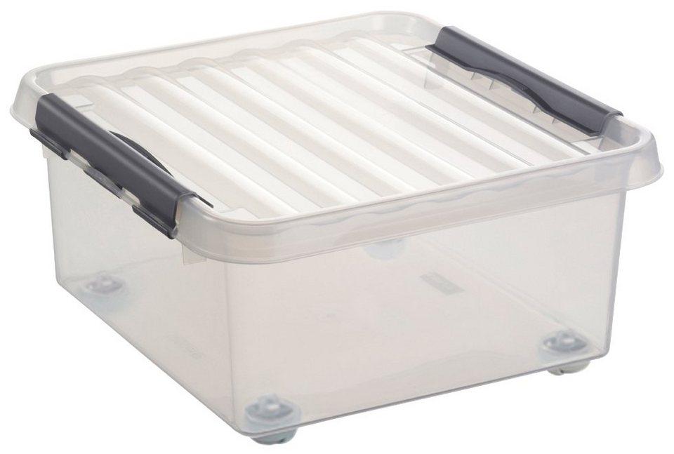 Aufbewahrungsbox »Rollerbox 18 Liter« in transparent/grau