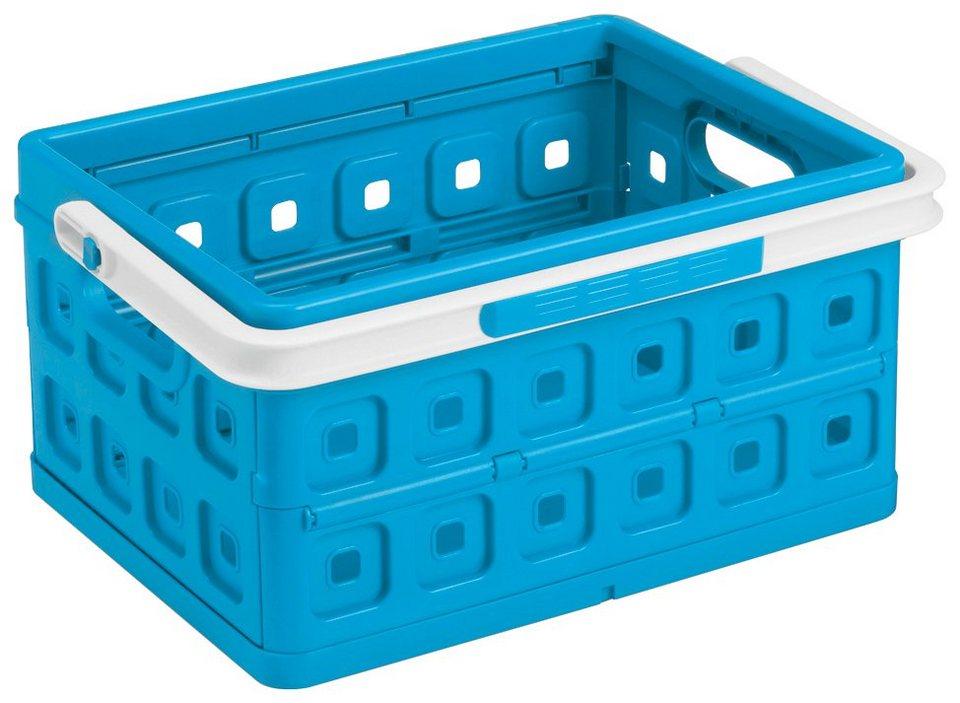 Einkaufskorb »Klappbox 24 Liter«, 2er-Set in blau/weiß