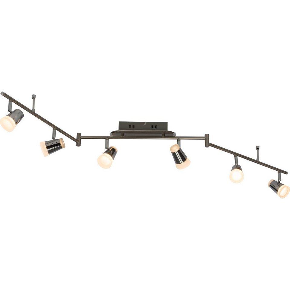 Brilliant Leuchten Stairs LED Spotbogen, 6-flammig (Z-Form) eisen/chrom in eisen/chrom
