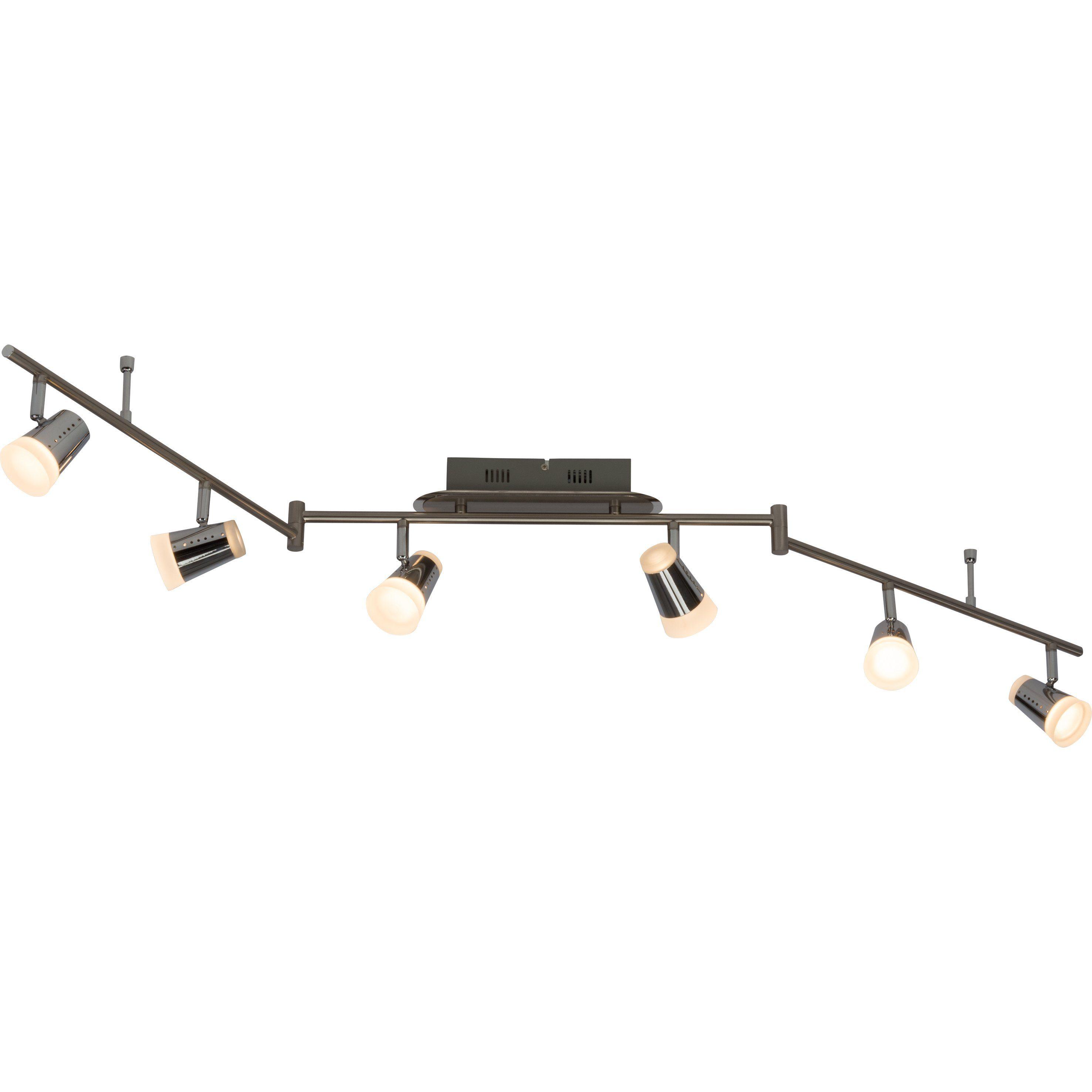 Brilliant Leuchten Stairs LED Spotbogen, 6-flammig (Z-Form) eisen/chrom