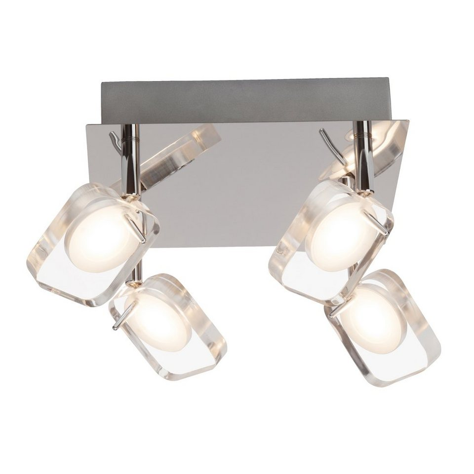 Brilliant Leuchten Narcissa LED Spotplatte, 4-flammig chrom/transparent in chrom/transparent