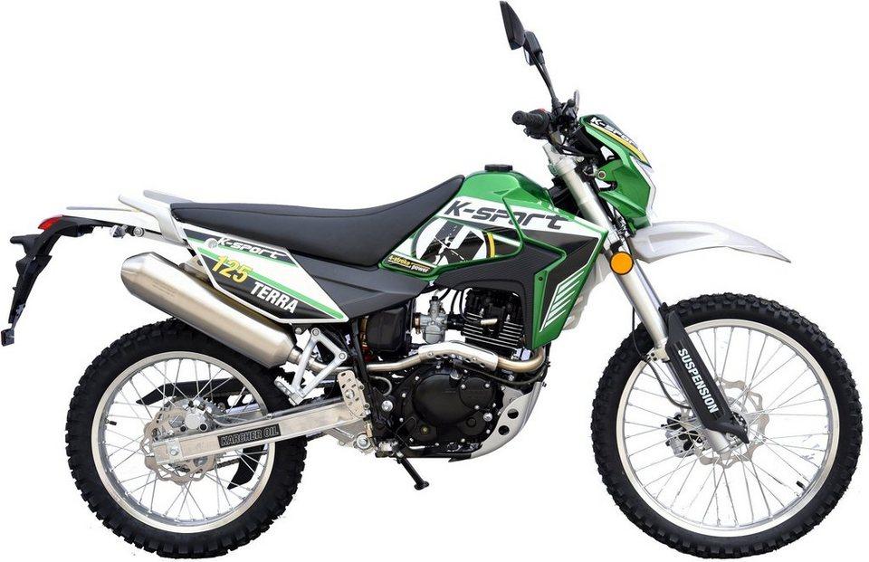K-Sport Motorrad, 125 ccm, 101 km/h, 11,42 PS, »Terra Enduro 125« in grün