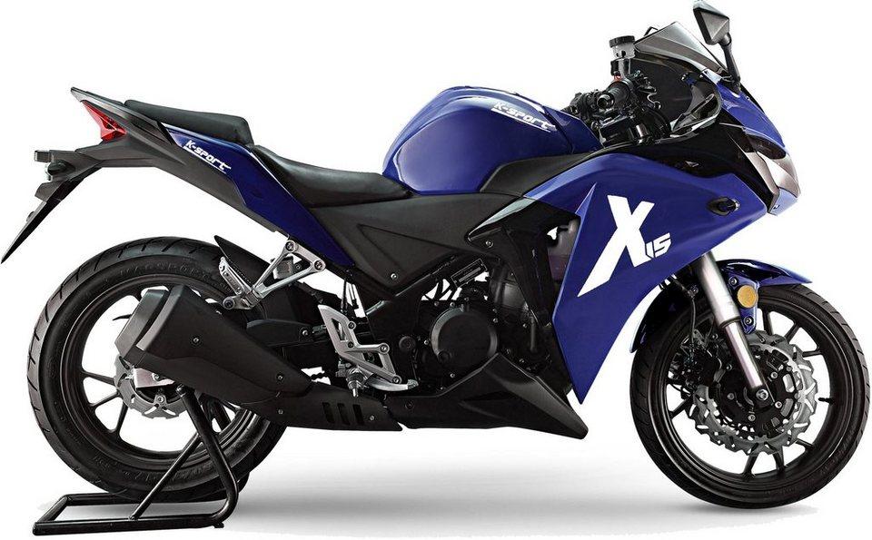 K-Sport Motorrad, 125 ccm, 110 km/h, 12,5 PS, »X15« in schwarz