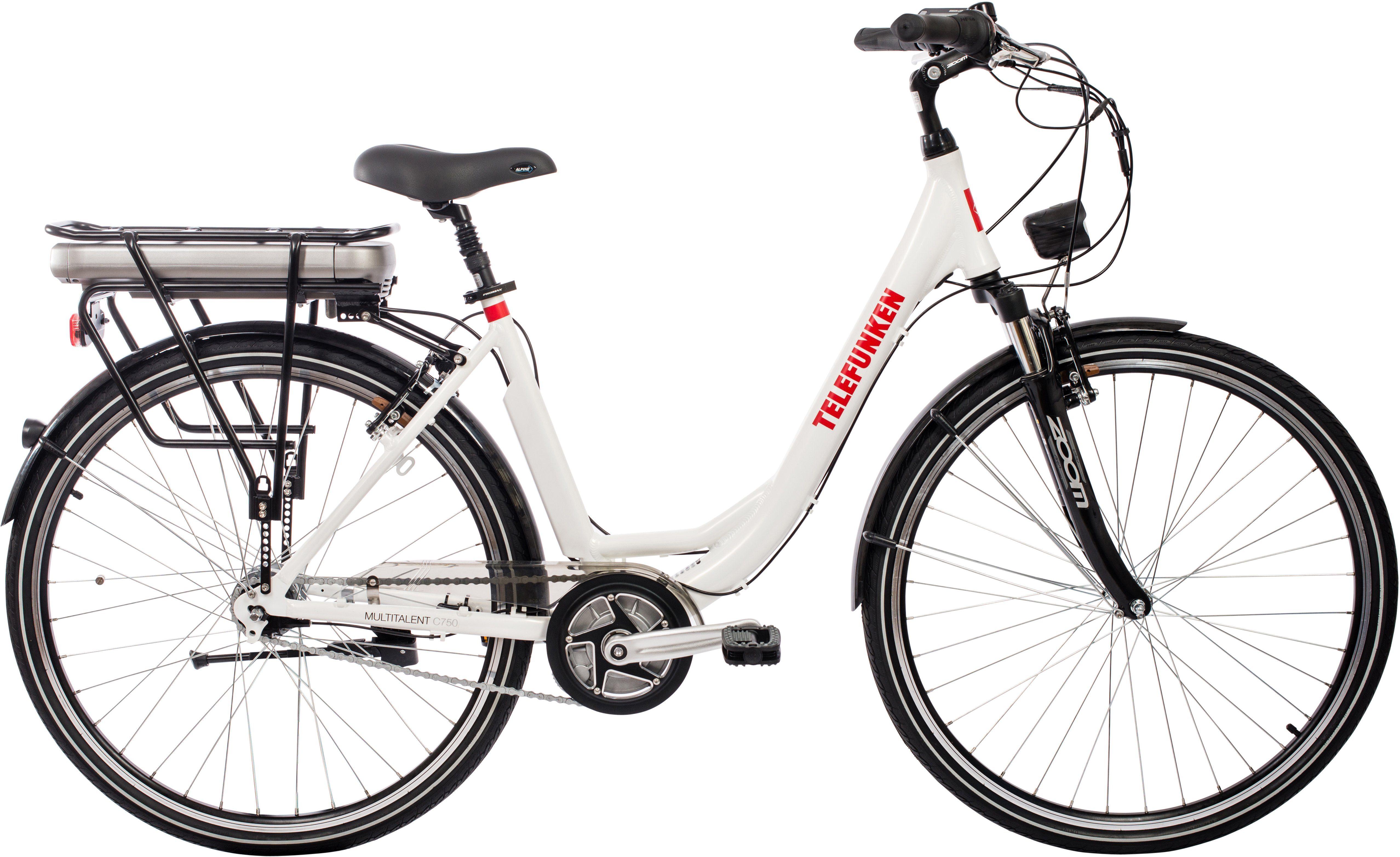 Telefunken Damen Alu City E-Bike, 28 Zoll, 7-Gang Shimano Nexus Nabenschaltung, »Multitalent C750«