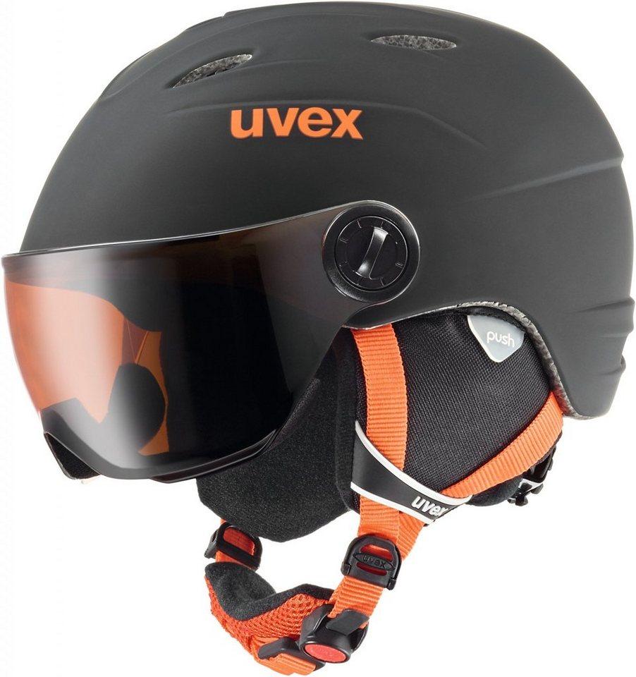 UVEX Ski - / Snowboardhelm »junior visor pro Helmet« in schwarz