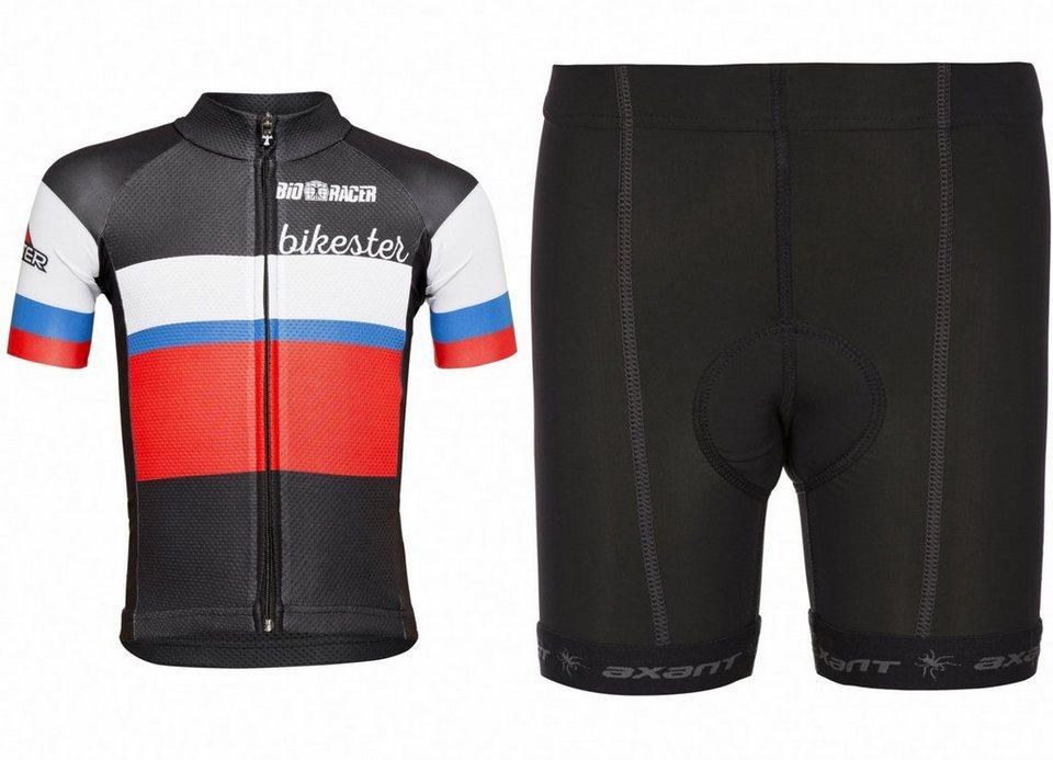 Bikester Trikot »Bioracer Classic Race Set Kids« in schwarz