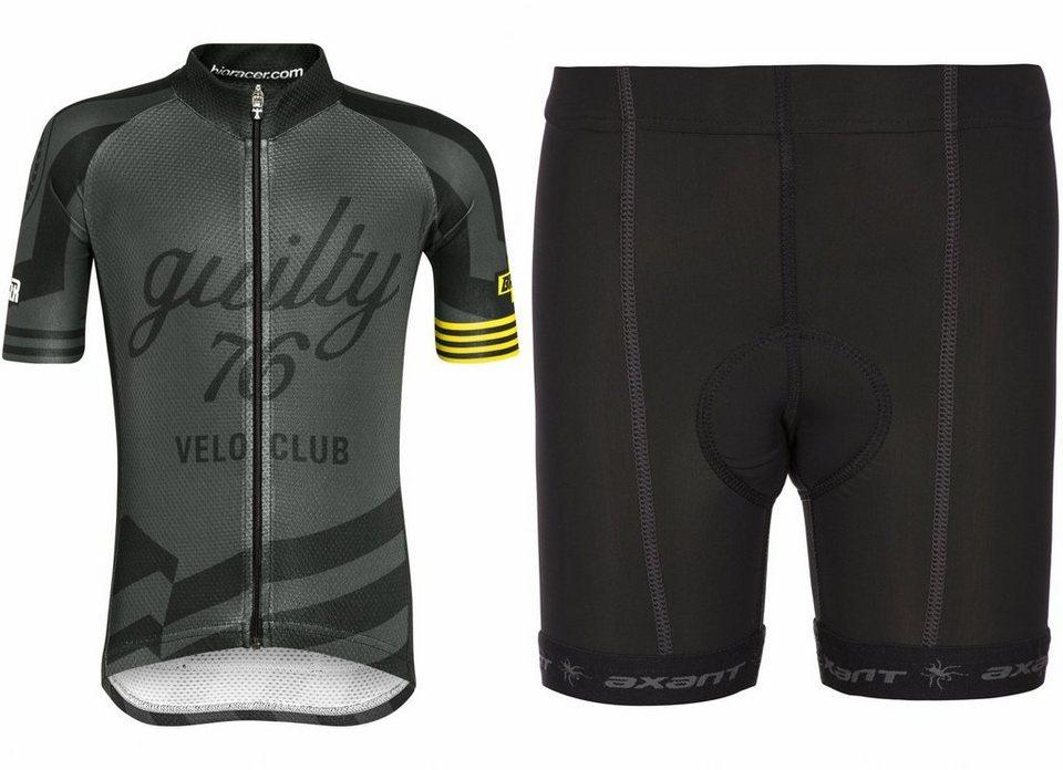 guilty 76 racing Trikot »Velo Club Pro Race Set Kids« in schwarz