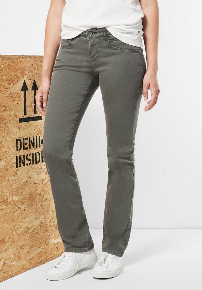 Street One Denim mit Straight Leg Envy in dusty olive light wa