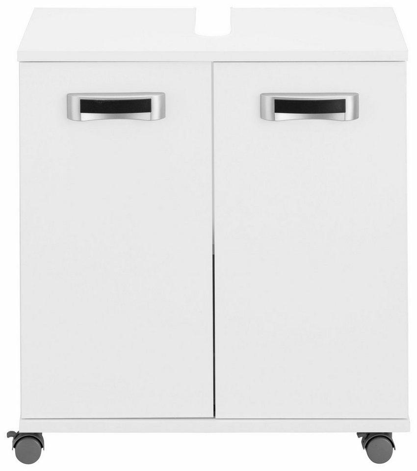 Waschbeckenunterschrank, Schildmeyer, »Kos« in weiß