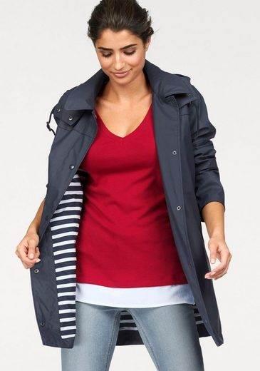 Boysens Rain Jacket Navy-look, Lining With Striped