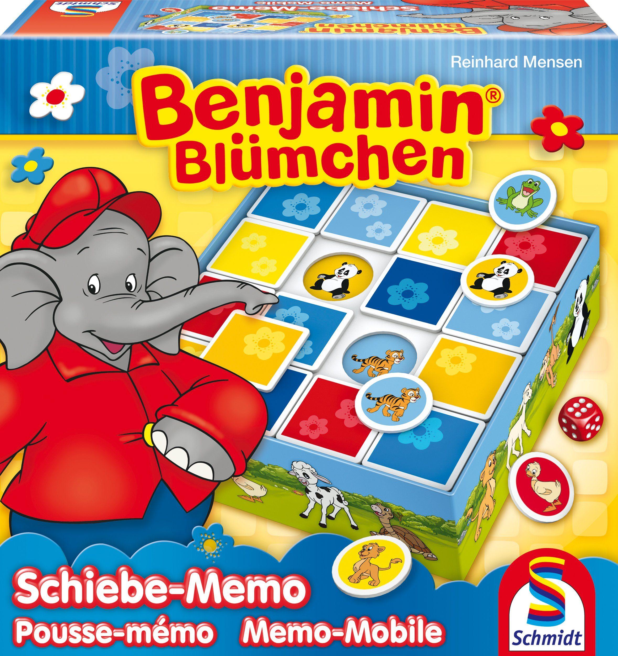 Schmidt Spiele Gesellschaftsspiel, »Benjamin Blümchen, Schiebe Memo«