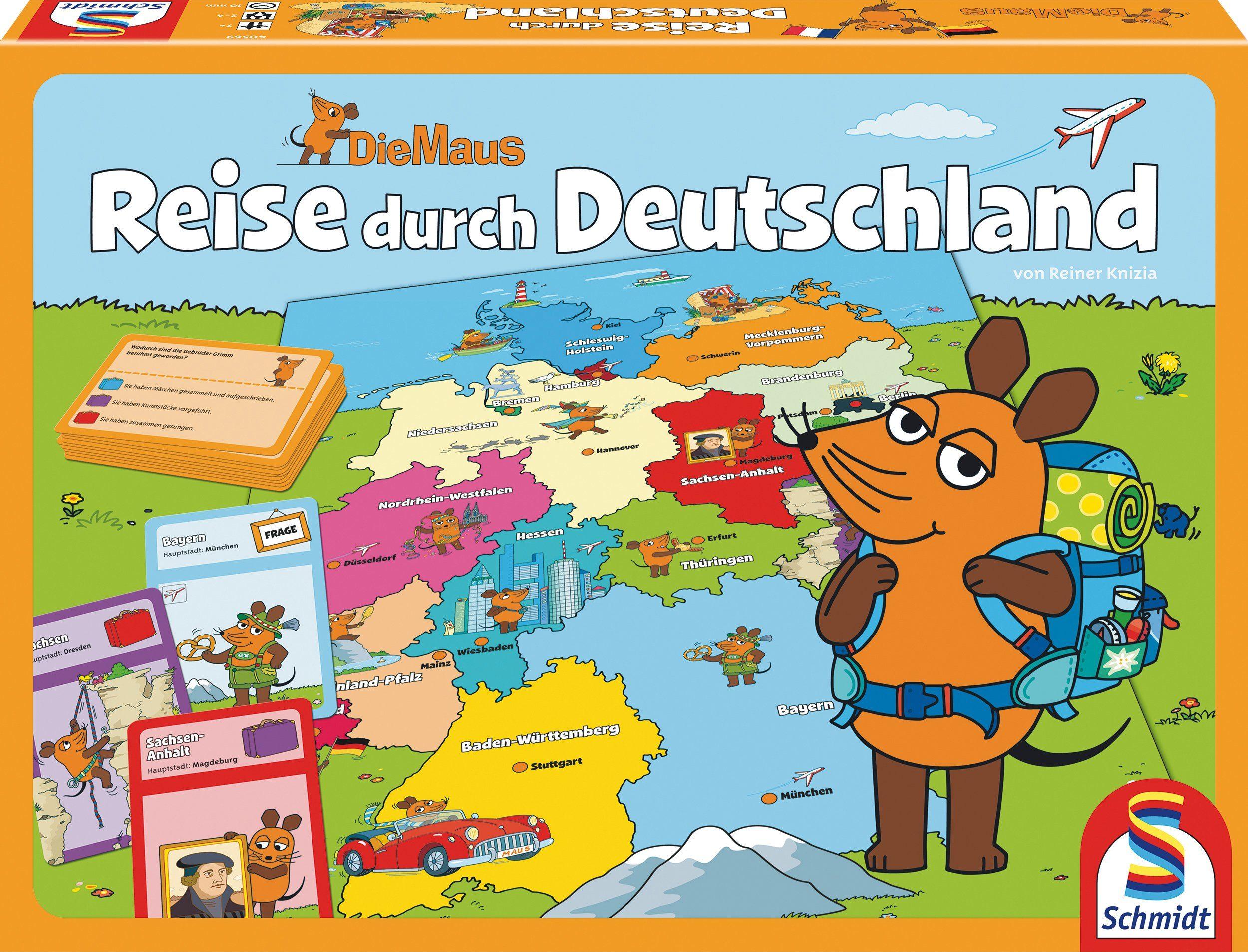 Schmidt Spiele Quizspiel , »Die Maus, Reise durch Deutschland«