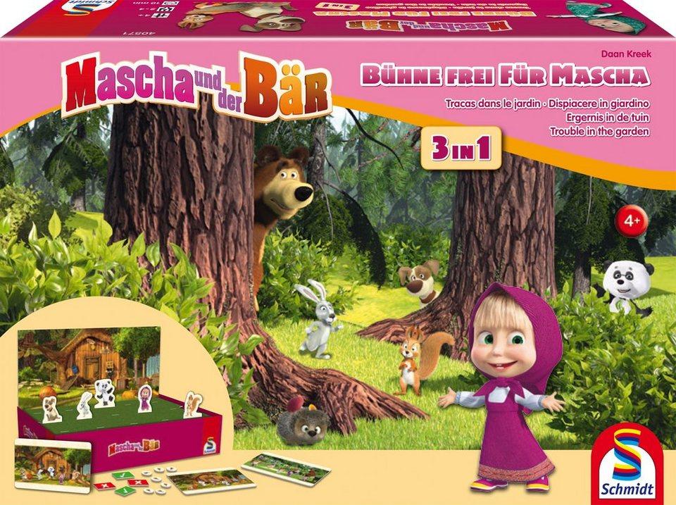 Schmidt Spiele Merkspiel, »Mascha und der Bär, Bühne frei für Mascha!«