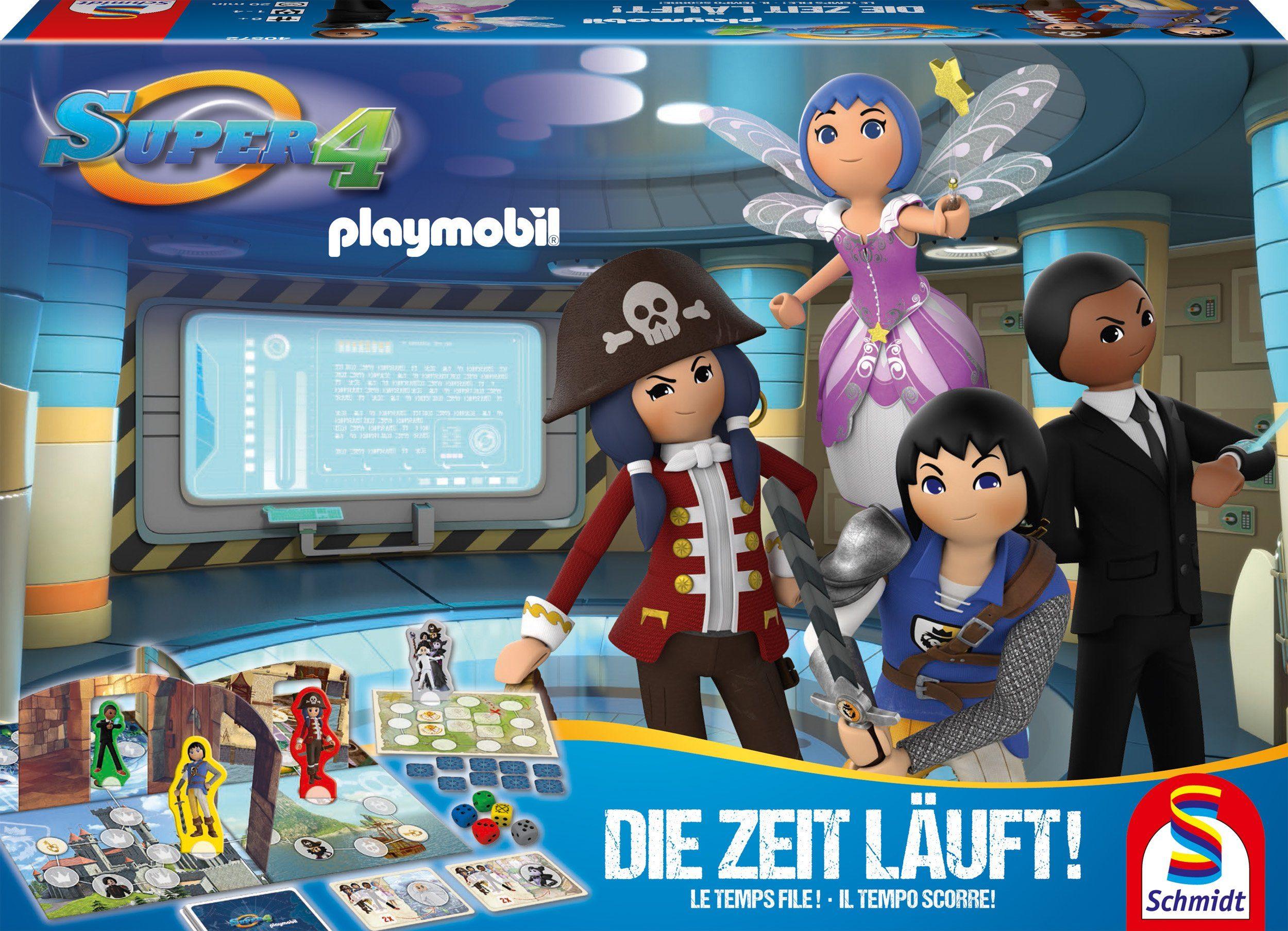 Schmidt Spiele Brettspiel, »Super 4, Die Zeit läuft!«