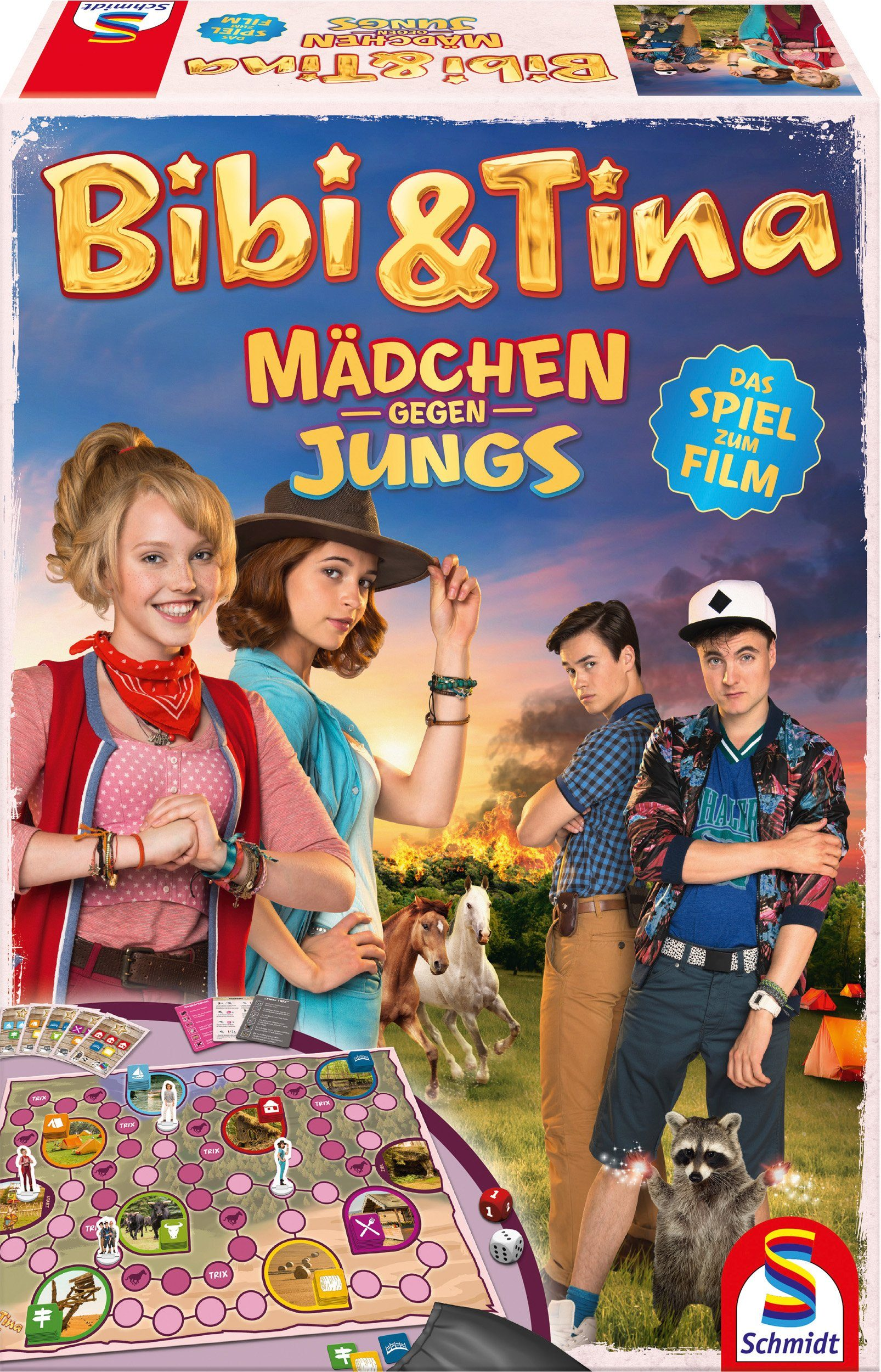 Schmidt Spiele Brettspiel, »Bibi und Tina, Mädchen gegen Jungs, Das Spiel zum Film 3«