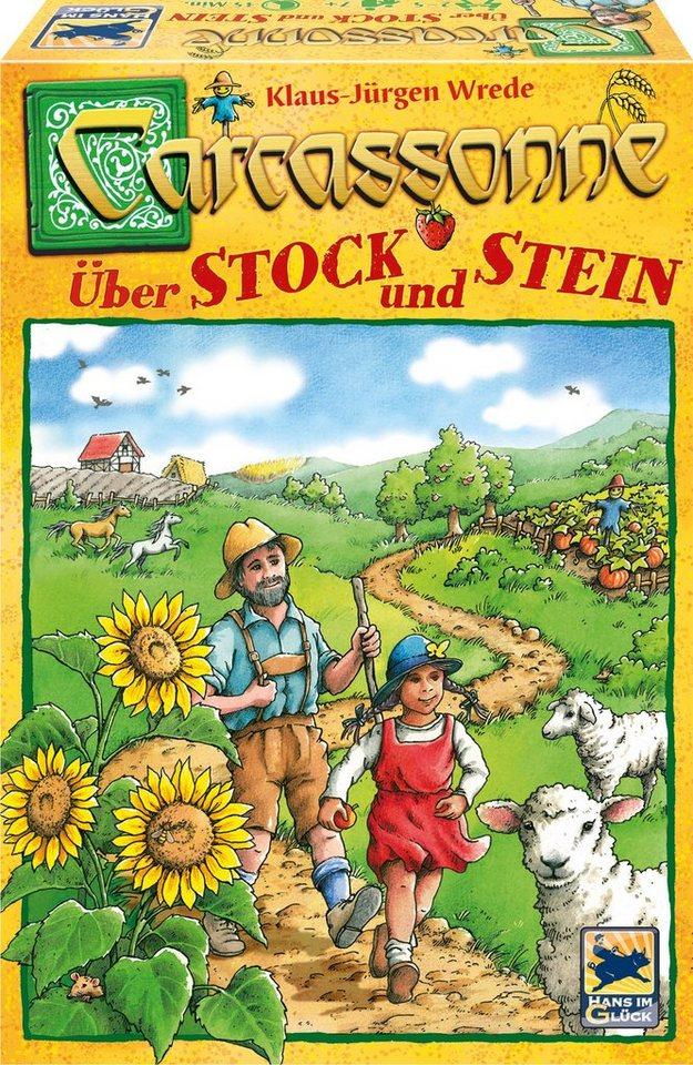 Schmidt Spiele Gesellschaftsspiel, »Carcassonne, Über Stock und Stein«