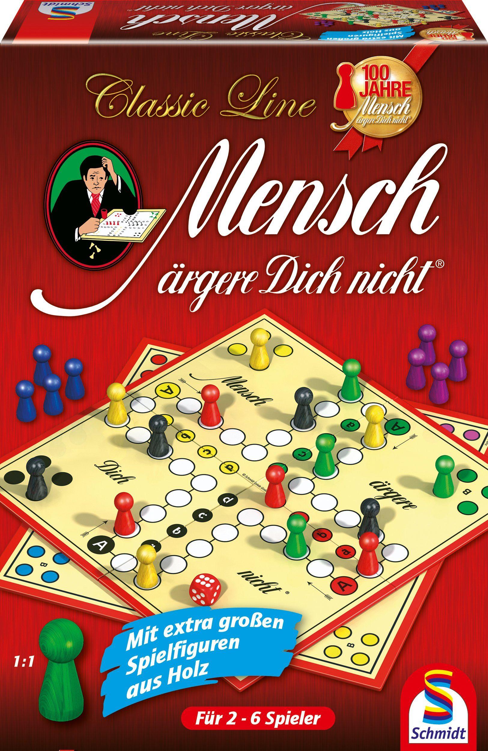 Schmidt Spiele Würfelspiel, »Classic Line, Mensch ärgere Dich nicht®, mit großen Spielfiguren«