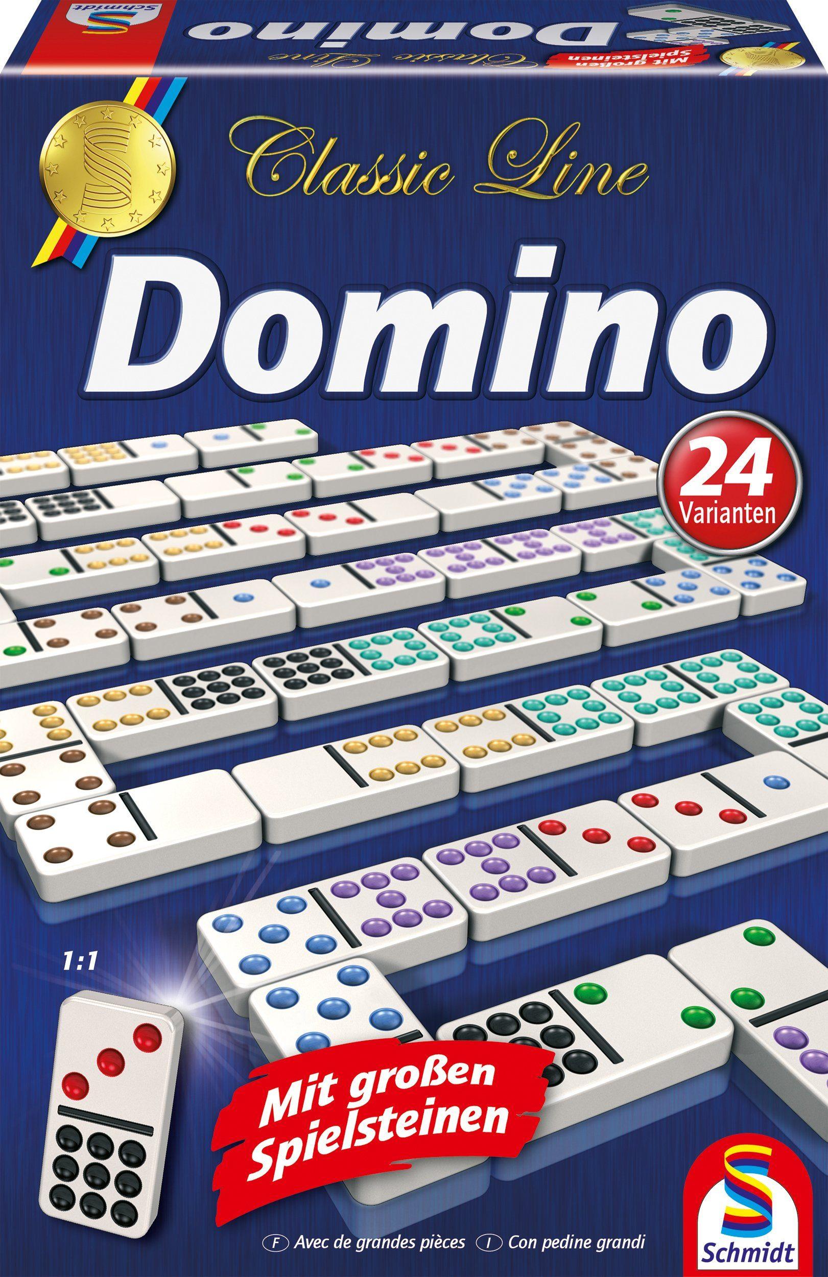 Schmidt Spiele Spieleklassiker, »Classic Line, Domino, mit extra großen Spielsteinen«
