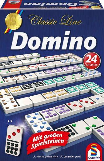 Schmidt Spiele Spiel, »Classic Line, Domino«, mit extra großen Spielsteinen