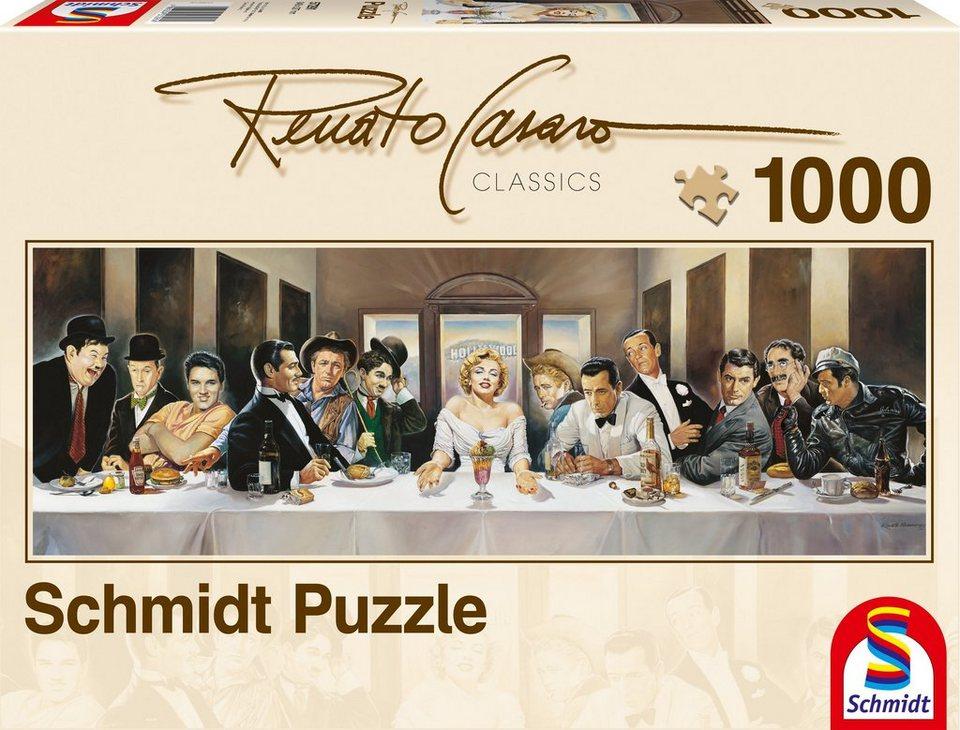 Schmidt Spiele Panoramapuzzle mit 1000 Teilen, »Dinner der Berühmten«