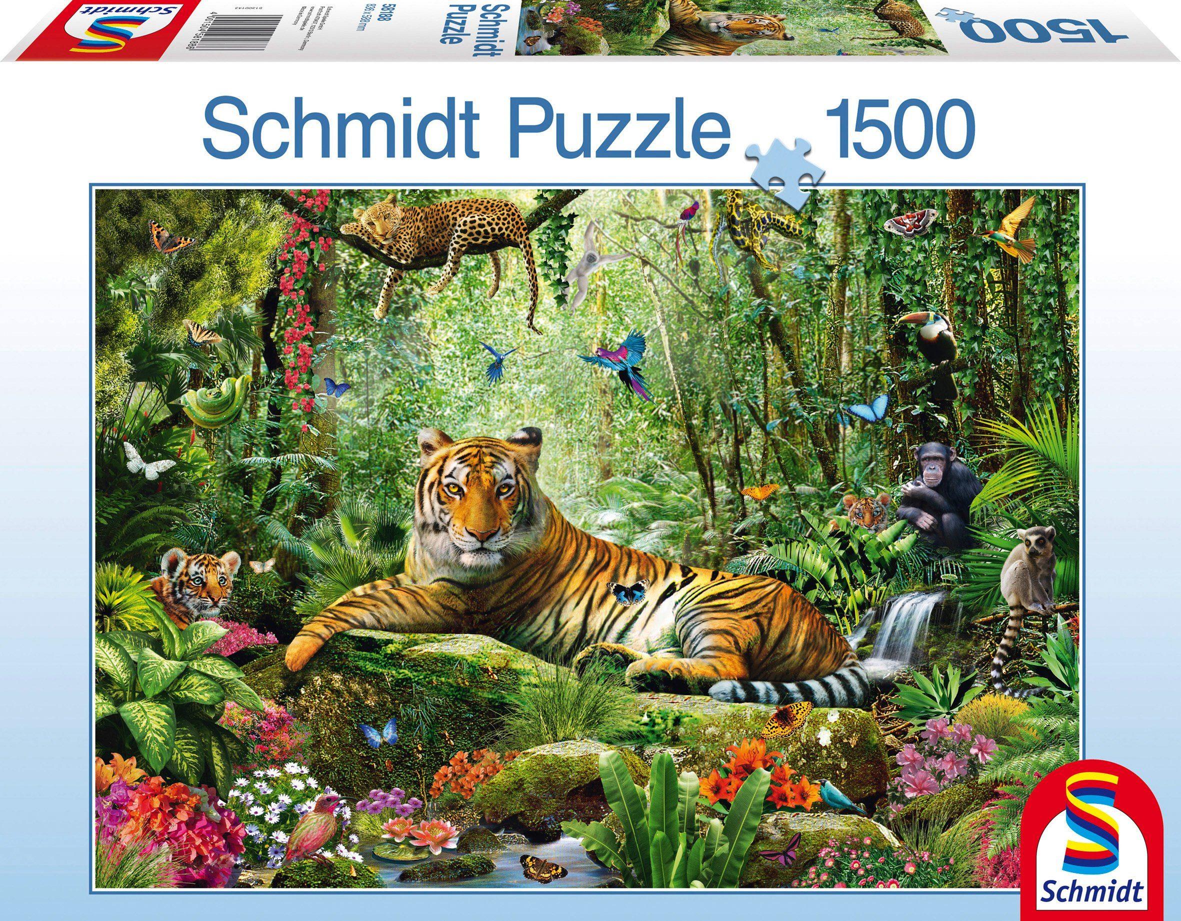 Schmidt Spiele Puzzle mit 1500 Teilen, »Tiger Dschungel«