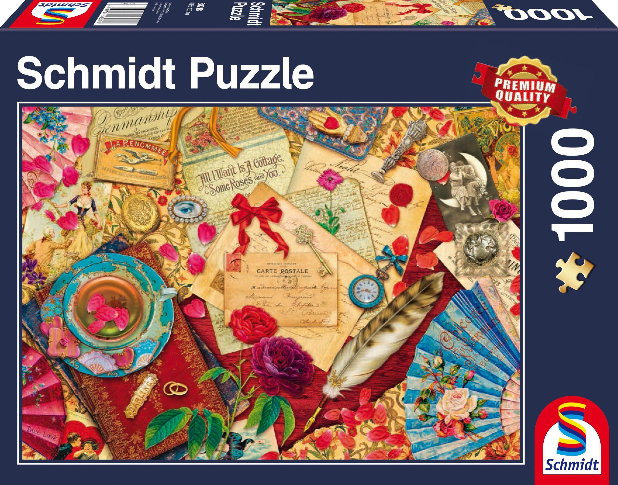 Schmidt Spiele Puzzle mit 1000 Teilen, »Vintage Liebesbriefe«