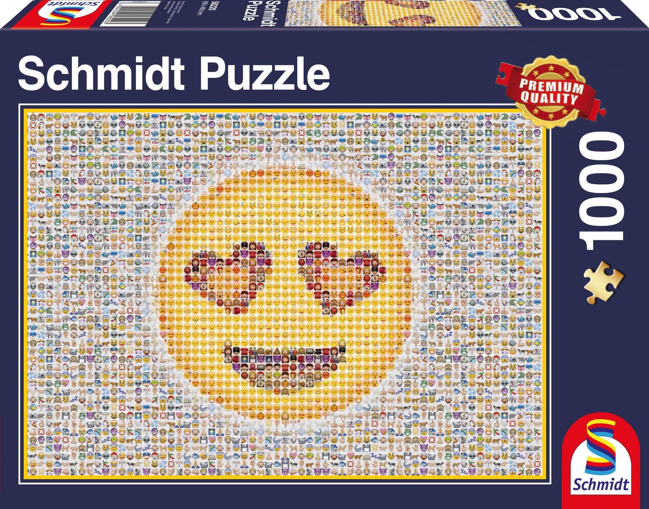 Schmidt Spiele Puzzle mit 1000 Teilen, »Emoticon«