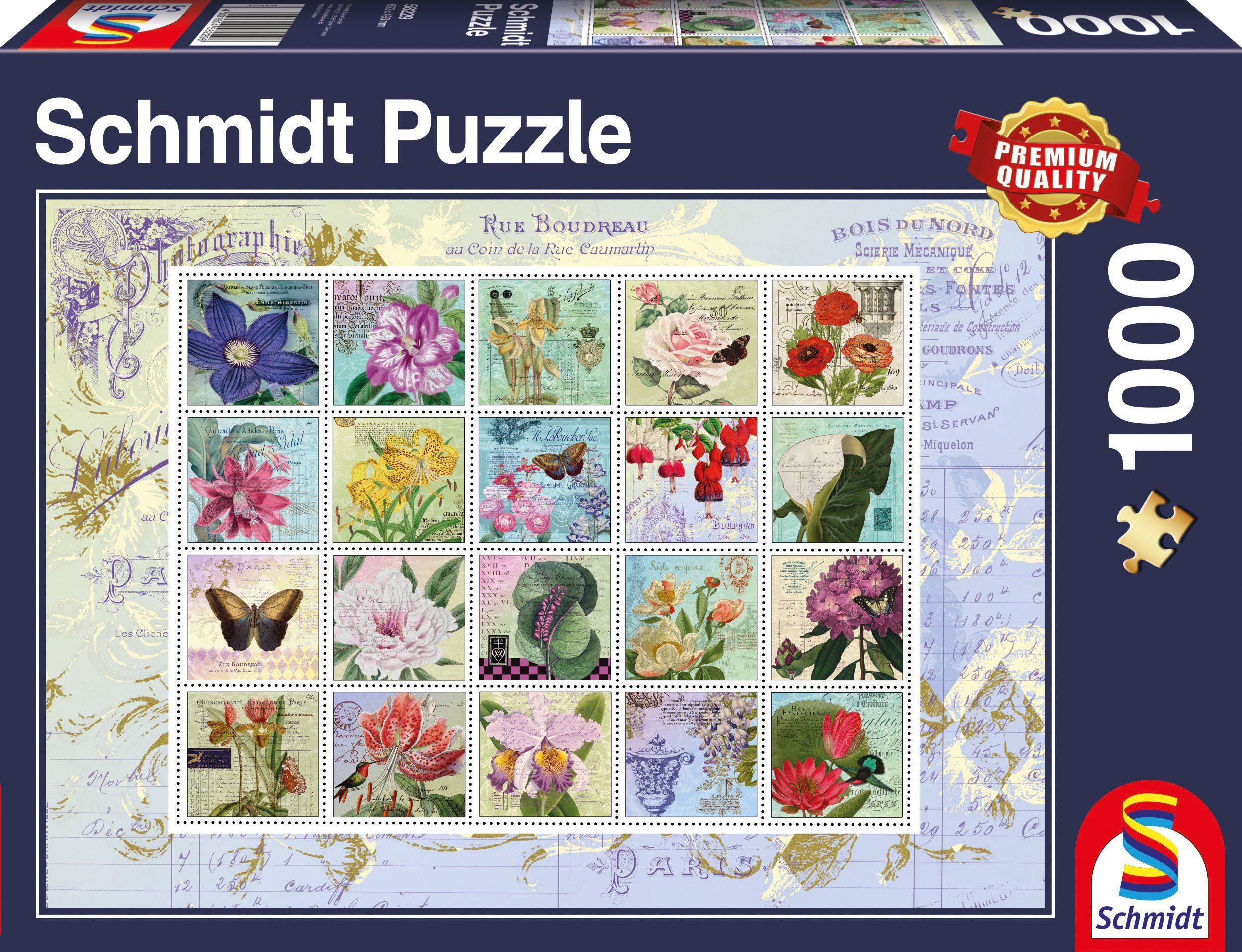 Schmidt Spiele Puzzle mit 1000 Teilen, »Nostalgie Briefmarken«