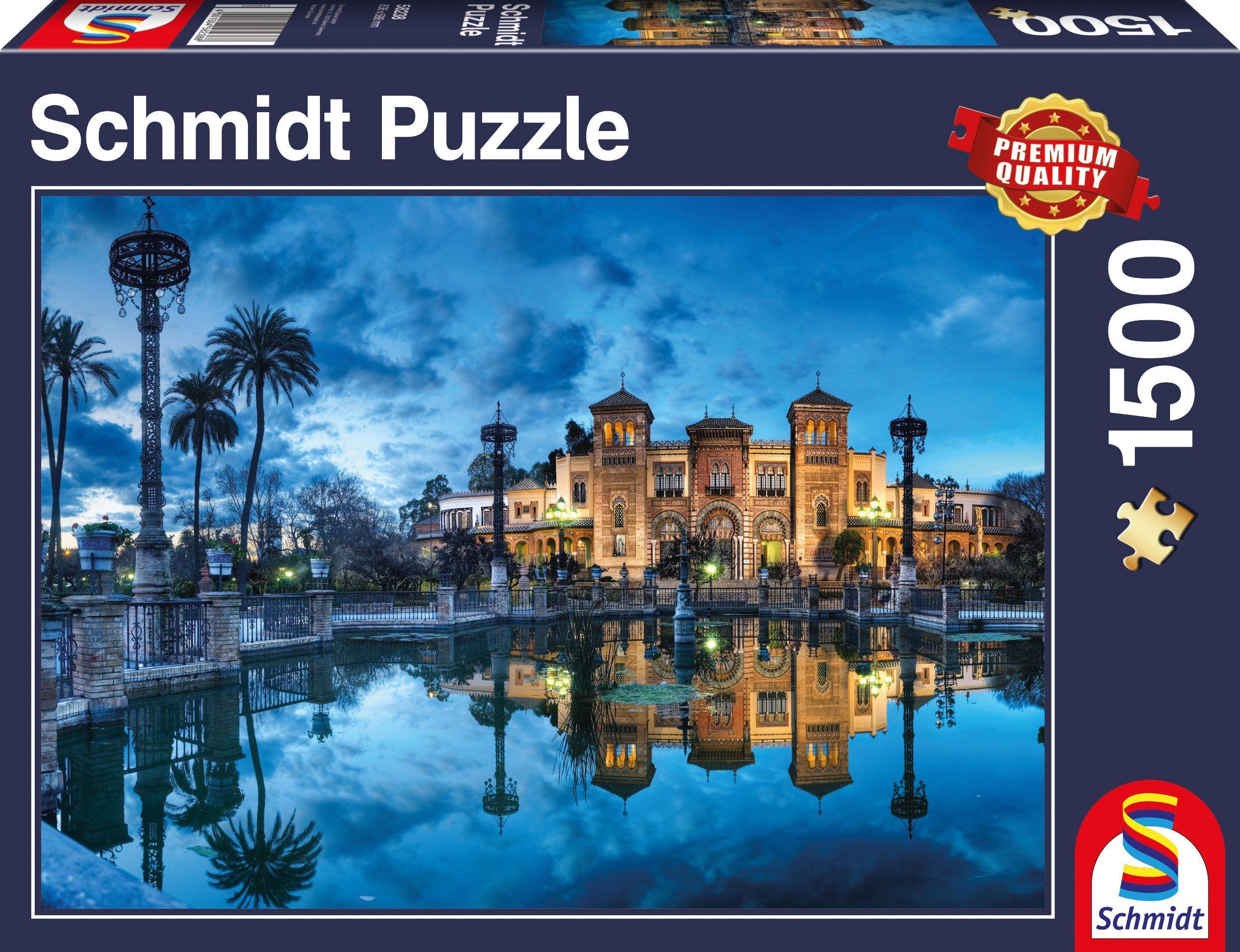 Schmidt Spiele Puzzle mit 1500 Teilen, »Mudejar Pavilion, Sevilla«