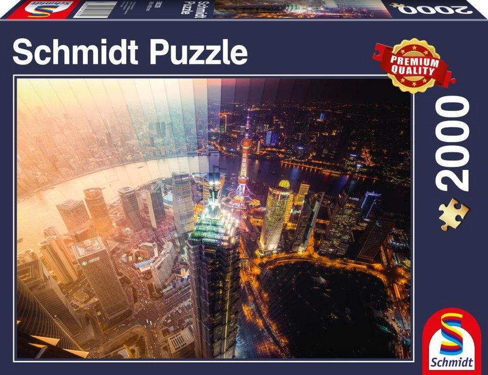 Schmidt Spiele Puzzle mit 2000 Teilen, »Tag und Nacht Zeitscheibe«